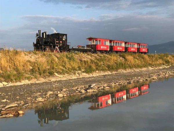 Eine Fahrt mit der alten Dampflokomotive des Rheinbähnles ist immer ein besonderes Erlebnis ...