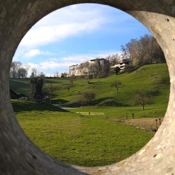 Das Wasserhaus als Ort der Sille in St. Arbogast. Mit einer außergewöhnlichen Architektur. ...