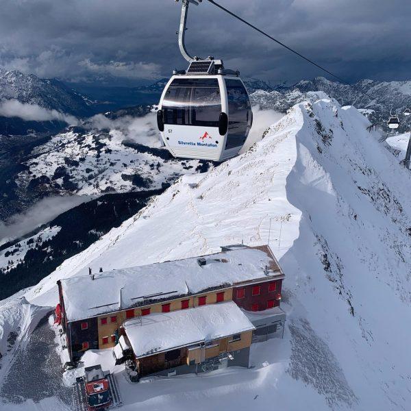 Panorama Bahn in der Silvretta Montafon oberhalb der Wormser Hütte .... bester Apfelstrudel ...