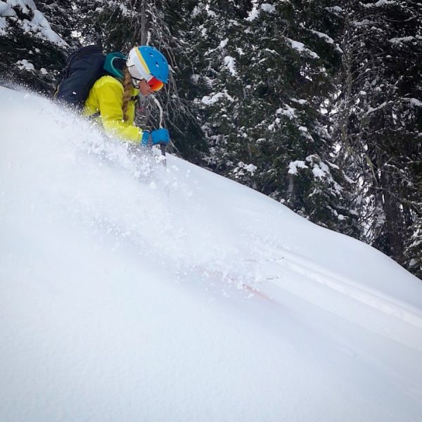 Snow was pretty windblown high up yesterday, but found some fluffy turns in ...