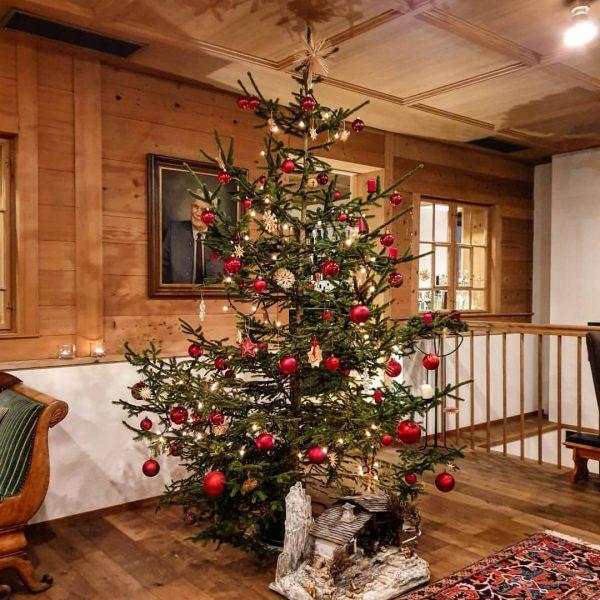VORBEREITUNGEN... Geschenke liebevoll verpackt, der Christbaum steht schon bereit und erstrahlt in unserer ...