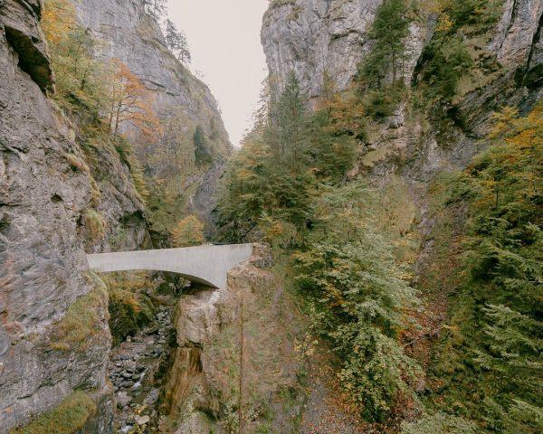 A step back on the Schaufelschlucht Bridge by @marte.martearchitects Dornbirn