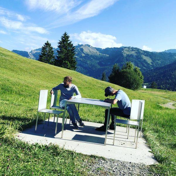 Workshop with a view 👁 #superbfg #thingswedo #innauermatt #sibratsgfäll #bregenzerwald #georunderindberg Sibratsgfäll, Vorarlberg, ...