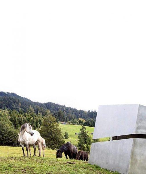 Georunde Rindberg built as a reminder for the huge landslides happened in 1999. ...