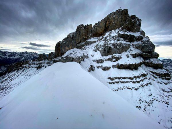 Kleine Winterwanderung auf's Hahnenköpfle (2.077 m) und zum Hohen Ifen (2.230 m). . ...