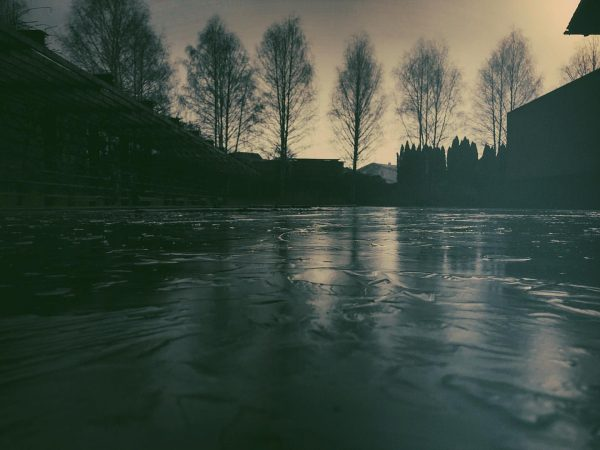 #walking with #family #matildazora at #inaturadornbirn #kunstraumdornbirn #frozen #pond #ice #surface #winter #dornbirn ...