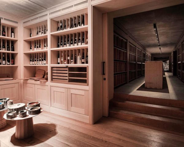 So lovely to see the LogBowls, included in the dreamy wine cellar interior ...