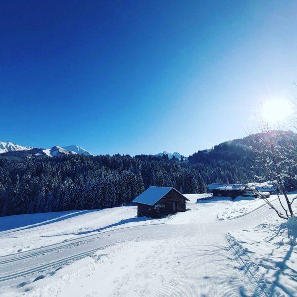 Wanderzeit ☃️🌨🥶 #kleinwalsertal #kanzelwand #winterwandern #winterzeit #wäldele #winterwonderland #kaiserwetter Hirschegg, Vorarlberg, Austria
