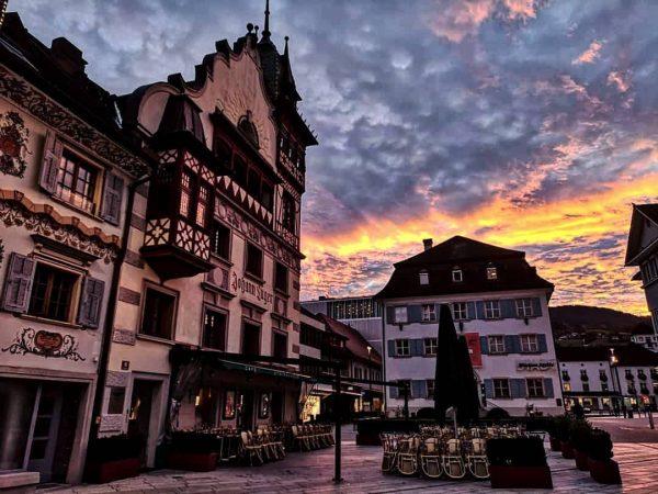 Schöner Sonnenuntergang am #dornbirn #marktplatz Marktplatz Dornbirn