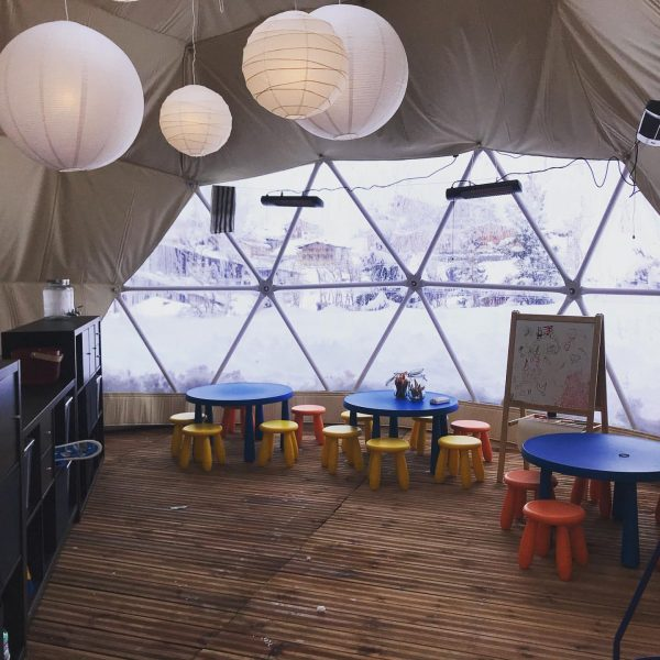 Check out our new Iglo in our kids area next to hotel der ...