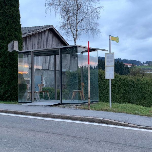 BUS:STOP, Smiljan Radic, 2014 The second of seven small busstops, inspired by a ...