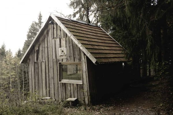Found this old cabin in the woods on a walk from the Eichenberg to the Pfänder Mountain...