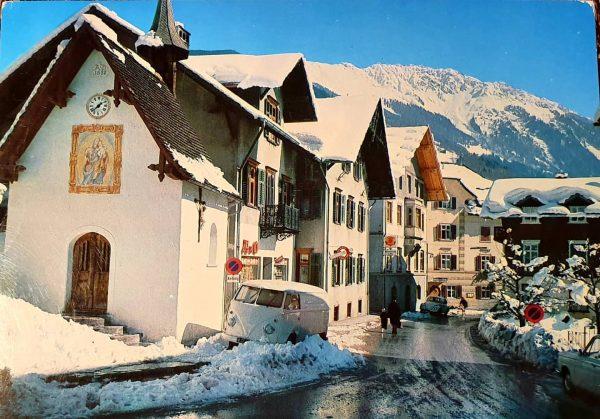 Schruns , Austria beginning sixties . BEAUTIFUL WHITE T1 BUS ❄❄💙 #wintersports #schruns ...