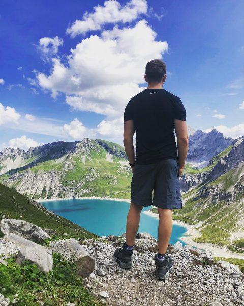 Wunderschöner Urlaub mit meinem Schatz ❤️ @sh4n1ce #vacation #mountains #alps #lünersee #couplegoals #sky #landscape #climbing #nature Totalphütte