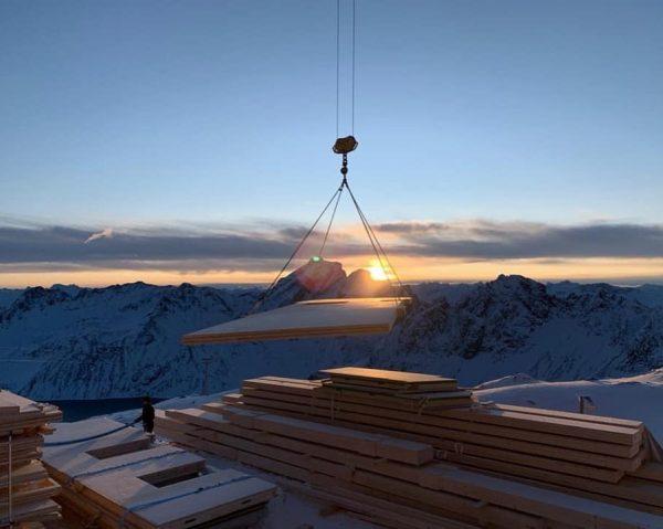 Was für ein tolle Stimmung auf unserer Höhenbaustelle auf 2.385m im Rätikon. Derzeit ist die Firma Fussenegger...