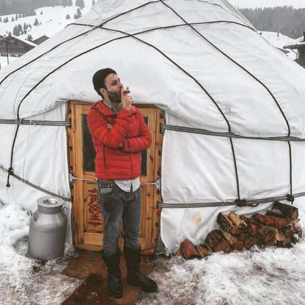 If the weather conditions don't allow you to open your tent, smoke a ...