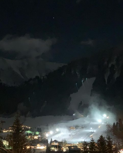 Mittwoch's Nachtskifahren ⛷am Kesslerlift . Unter'm Sternenhimmel ✨ im Mondschein 🌝 💫 #hotelerlebach ...
