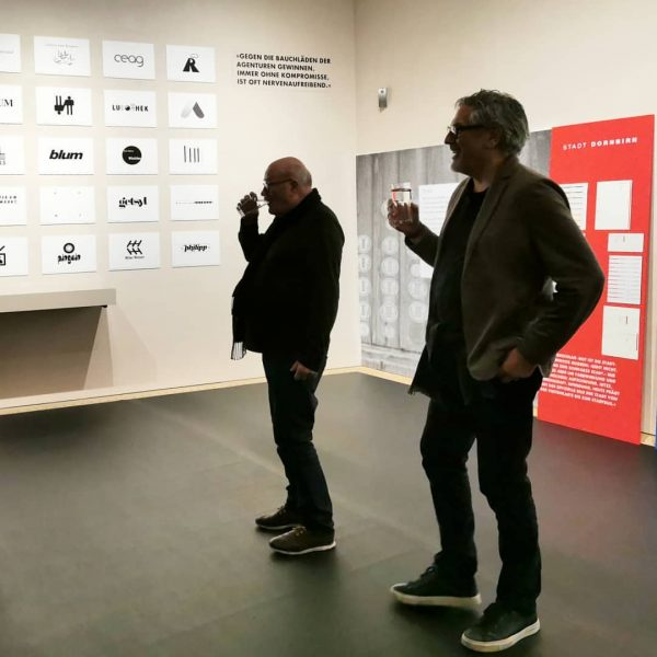 Last night: guided tour - Reinhold Luger in dialogue with Sigi Ramoser. . ...
