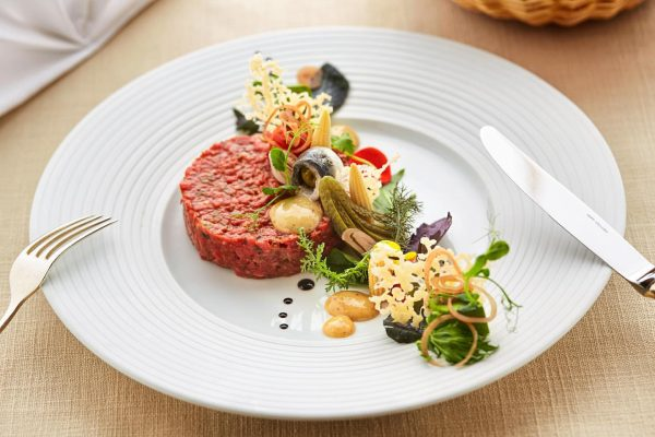 """Enjoy culinary delights at the Post Lech 😊 . Beef Tatar with """"Mixed ..."""