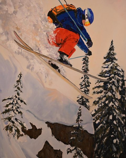 taking flight ⛷ come bye and take a look to our new paintings ...