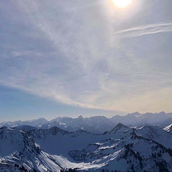 Ideal weekend weather conditions for another marvellous skitour in Vorarlberg - Austria. Just ...
