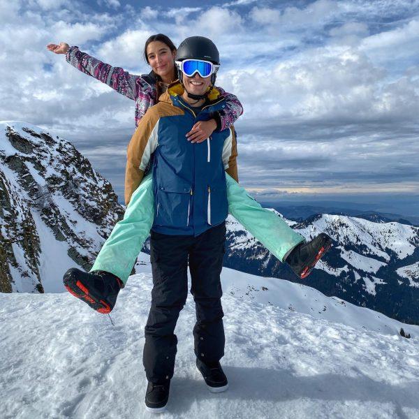 Schneehasen 💙 #snowboarding #skiing #mountain #mountainlovers #nature #enjoyingnature #snow #couplegoals #amazingview #lakeofconstance #bodensee ...