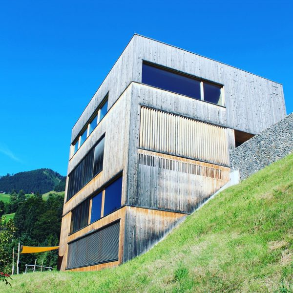 Gemeindezentrum St. Gerold, Cukrowicz Nachbaur, 2008 The beautiful wooden cube is getting grey! ...