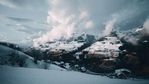 Berge in Raggal, Österreich. #winter #snow #tree #trees #cold #white #austria #raggal #vorarlberg ...