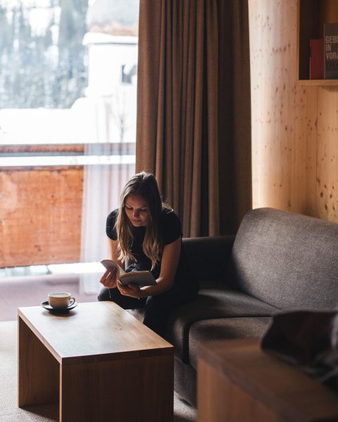 Perfect days for skiing & relaxing ☕️ #cozyness Rote Wand Gourmet Hotel