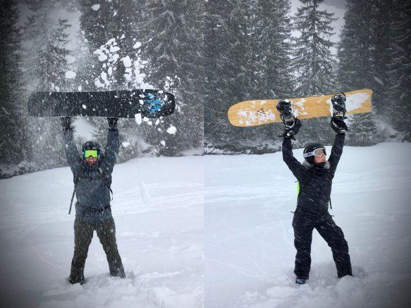 Snowbirds #powpowpow #snowboarding #fapsc #funkyawesomepowdersurfingcrew #montafon #jonessnowboards #beestjesboel Skigebiet Gargellen - Montafon