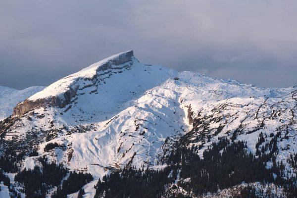 Mountain Ifen (Ethan) in the Kleinwalsertal in Austria. Love the weird shape of ...
