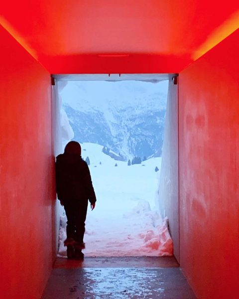 @binnysfoodandtravel at the Skyspace Lech. Thank you for the photograph #repost #skyspace #skyspacelech #lech #lechamarlberg #oberlech #turrell #jamesturrell #art #artist #lightart #installationart #design #architecture #photography #light #installation #sky #mountains #heaven #perception #contrast #nature #lightroom #contemporaryart #inspo