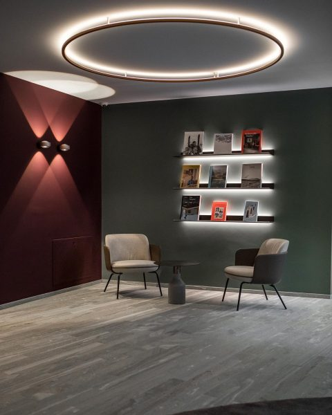 Smart lighting and soothing shades of colour inspired by the surrounding landscapes were ...