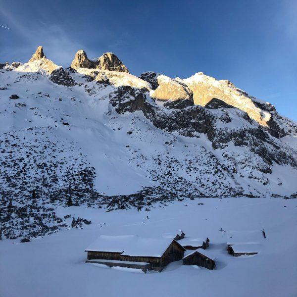 #skitouring #dreitürme #gauertal #firstline #alpenglow #vorarlberg #meintraumtag #meinmontafon Drei Türme