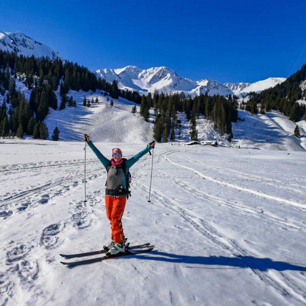 Unterwegs auf Skitour, sowie hier im schönen Schwarzwassertal, das lässt mein Herz höher ...