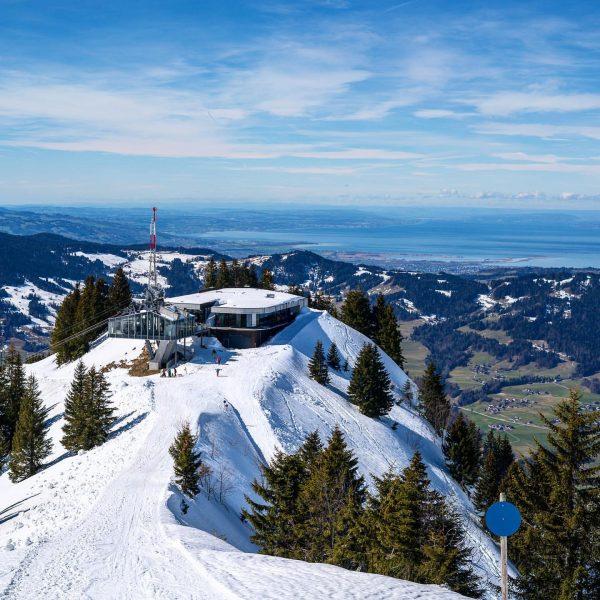 Schöne Aussicht auf den Bodensee 😍 im Skigebiet Mellau. #Mellau #bezau #hill #skiing ...