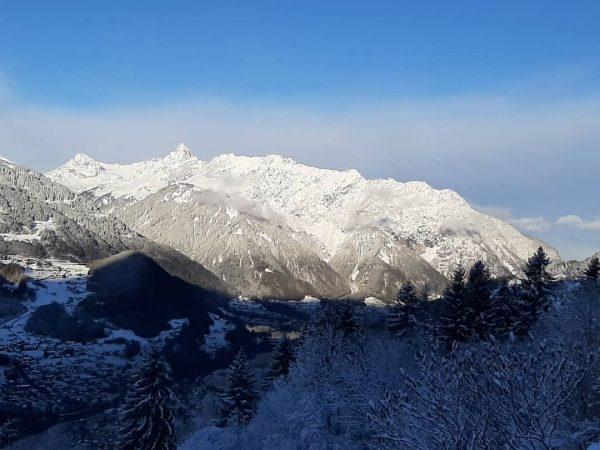 Winter zur Wochenmitte ❄☃️🌬❄ Guten Morgen aus Schruns Gästehaus Schrunsblick