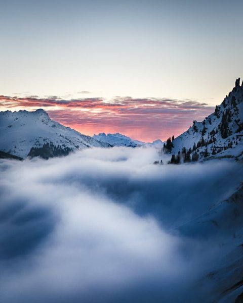 for the feed :P captured this sunset in Lech. • • • • ...