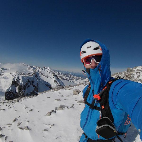 Skitour auf den großen Drusenturm (2.818m) im Rätikon. Die drei Türme gelten als ...