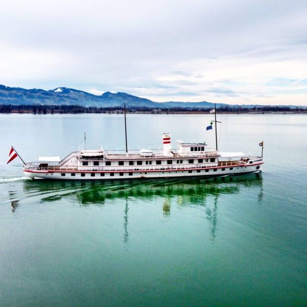 Немного зимнего кораблика вам #vorarlberg #bodensee #aerial #ship