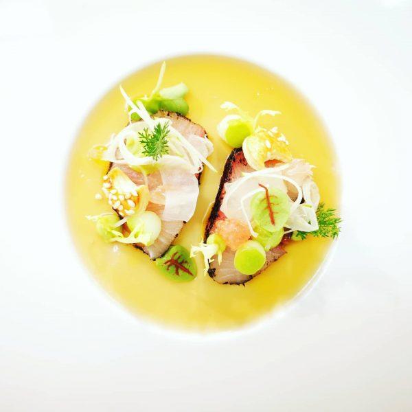 MARINIERTE GELBFLOSSENMAKRELE Avocado|Fenchel|grüner Apfel Zitrusfrüchte-Ponzugelee Hotel Zürserhof - More than holidays