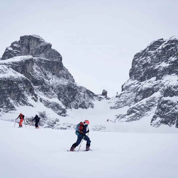 Big Mountain - Little Human #shotoniphone #skitouring #mountains #mountainlove #freeride #friends #outdoor #outdooradventures ...