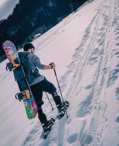 Splitboard oder doch die guten alten Schneeschuhe? Der schönste Lift ist der Naturlift😋🗻🏂 ...