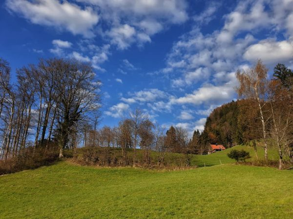 Traumhafter Wolkenhimmel über Götzis! Wohnen, wo andere Urlaub machen...Hier lässt es sich auch ...