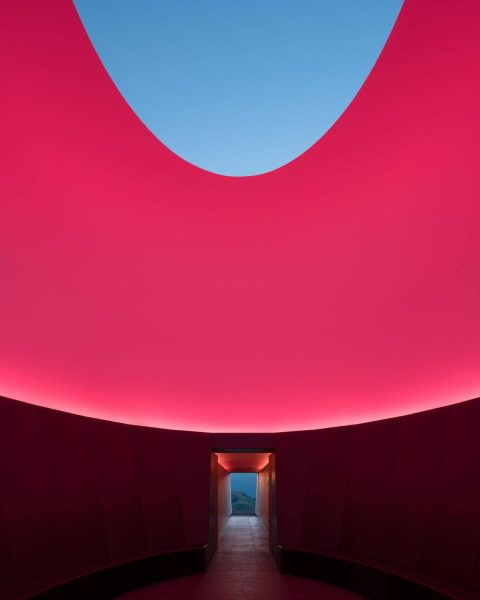 Infrared interiors. 'Skyspace' designed by @jamesturell. Lech Zürs am Arlberg