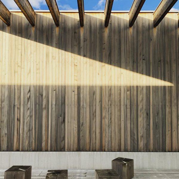 Volksschule Unterdorf in Höchst, Dietrich Untertrifaller Architekten, 2017 Light and shadow on the ...
