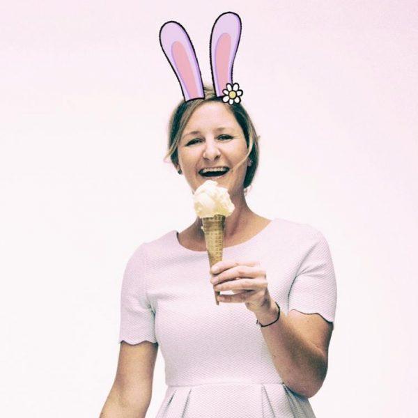 Das Bild von mir, das meine nette Kollegin Julia auf Ostern hin ein ...
