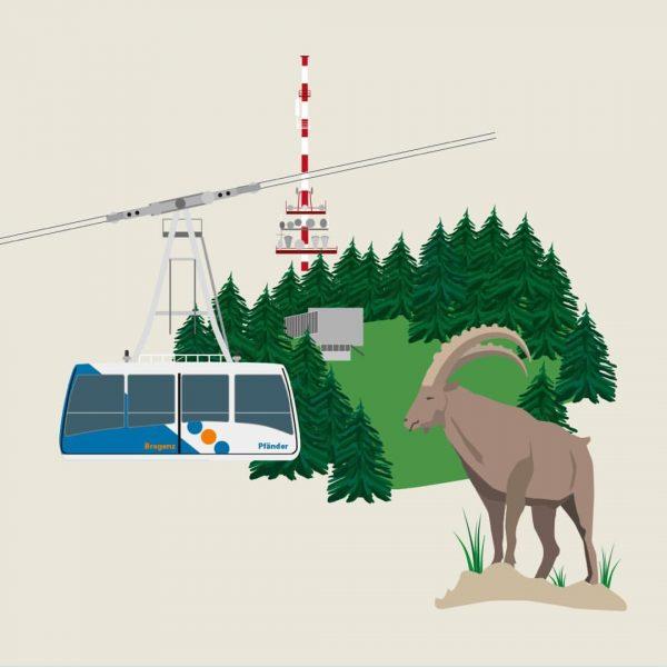 #Pfänder #Bregenz #bodensee #Urlaubsreisender #illustration #illustrator