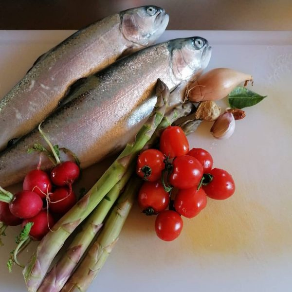 Das Wochenende gab es bei Michael & Angelika ein Forellen-Gemüsecurry mit Fisch vom ...