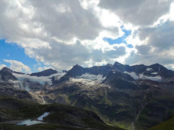 The Dreiländerspitze is one of the higher mountains in the Silvretta range in the eastern Alps, at 3,197 metres. The ...